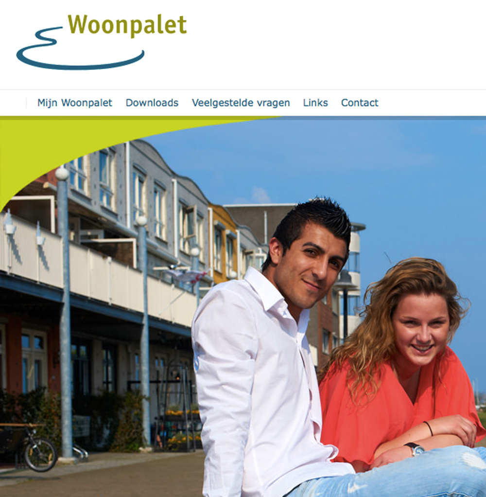 website ontwikkeling Woonpalet - Peter Voets